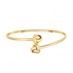 Classic 14k Love Knot Bangle Bracelet