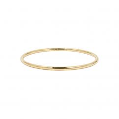 14k Yellow Gold 3mm Bangle Bracelet