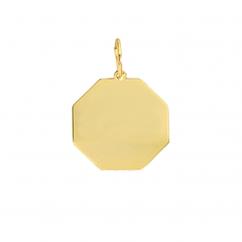 14k Yellow Gold Octagon Charm