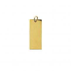 14k Yellow Gold Vertical Charm