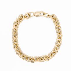 Hamilton 14k Yellow Gold 8mm Charm Bracelet