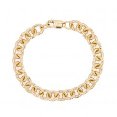 Hamilton 14k Yellow Gold 9.75mm Charm Bracelet