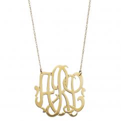 Monogram 14k Gold Pendant