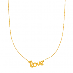 14k Yellow Gold Love Pendant