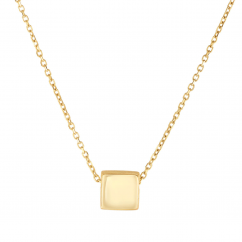 Classic 14k Gold Square Pendant
