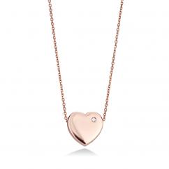 14k Rose Gold Heart Pendant