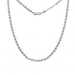 14k White Gold 18 Inch Hamilton Link Chain Necklace