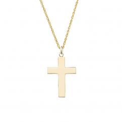 "14k Yellow Gold Cross 1.25"" Pendant"