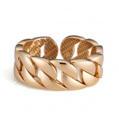 18k Yellow Gold Link Cuff Bracelet