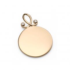 Hamilton 18k Gold and Diamond Round Charm