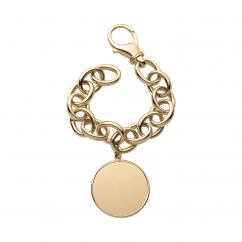 StoryTelling 18k Gold Link Bracelet With Disc Charm