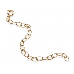 Hamilton 18k Gold Link Charm Bracelet