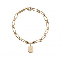 StoryTelling 18k Gold and Hexagon Charm Bracelet
