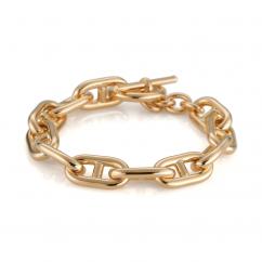 Classic 18k Yellow Gold Mariner Link Bracelet