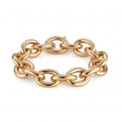 Classic 18k Yellow Gold Medium Link Bracelet