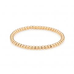 18k Yellow Gold 4mm Bead Bracelet