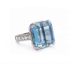 Private Reserve Aquamarine and Diamond Ring