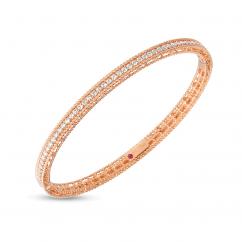 Roberto Coin Princess 18k Rose Gold and Diamond Bangle