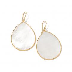 Ippolita 18k Gold Jumbo Mother of Pearl Earrings