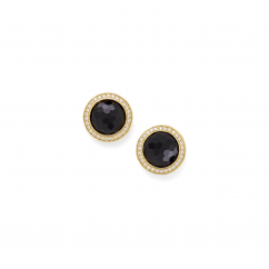 Ippolita Lolipop 18k Gold and Onyx Earrings