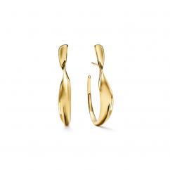 Ippolita Twist Ribbon 18k Gold Earrings