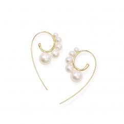 Ippolita 18k Gold Nova Pearl Threader Earrings