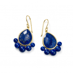 Ippolita Nova 18k Gold and Lapis Earrings
