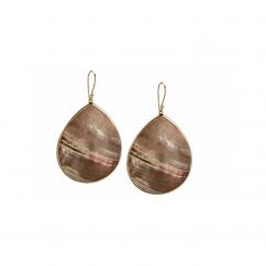 Ippolita 18k Gold Rock Candy Shell Teardrop Earrings
