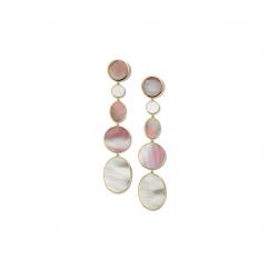 Ippolita Polished Rock Candy 18k Gold Extra Long Mixed Shape Earrings