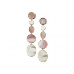 Ippolita Polished Rock Candy Dahlia 18k Gold Extra Long Earrings