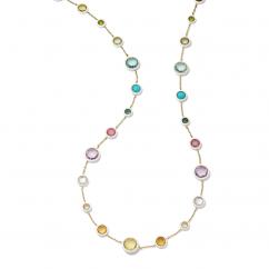 Ippolita Lollipop Carnevale Rainbow Ceramic & Stone 18k Yellow Gold Necklace