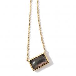 Ippolita 18k Gold and Black Shell Pendant