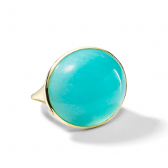 Ippolita Rock Candy Luce Oval Amazonite Cabochon 18k Yellow Gold Ring
