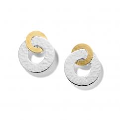 Ippolita Sterling Silver and 18k Gold Chimera Interlocking Earrings