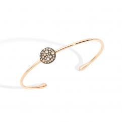 Pomellato Sabbia 18k Gold and Brown Diamond Bracelet