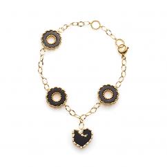 Chantecler Anima 70 18k Gold Black Onyx Bracelet, Exclusively at Hamilton Jewelers