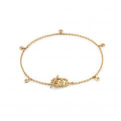 Gucci Running G M 18k Gold and Diamond Bracelet