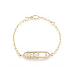 Jade Trau Penelope 18k Yellow Gold and Diamond Bracelet
