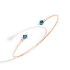 Pomellato Mama 18k Gold and London Blue Topaz Bracelet