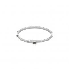 Gucci 18k White Gold and Diamond GG Running Bracelet