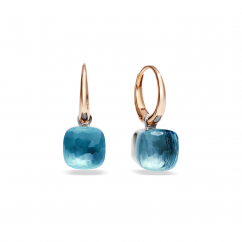 Pomellato Nudo 18k Gold and Blue Topaz Small Earrings