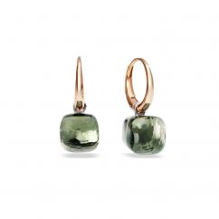 Pomellato Nudo 18k Gold and Prasiolite Small Earrings