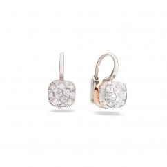 Pomellato Nudo 18k Gold and Diamond Earrings