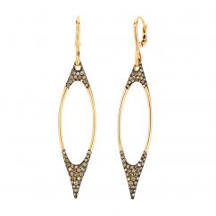 Etho Maria 18k Yellow Gold and Brown Diamond Earrings