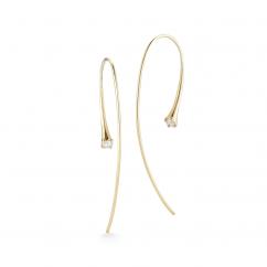 Jade Trau 18k Yellow Gold Ara Diamond Earrings