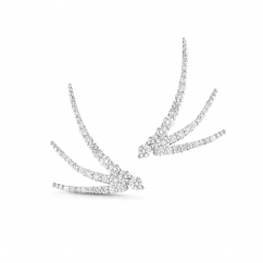 Jade Trau 18k Gold and Diamond Luna Trois Earrings