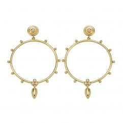 Temple St. Clair 18K Circle Anfora Earrings