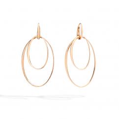 Pomellato 18k Rose Gold Loop Earrings