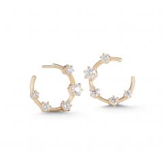 Jade Trau Kismet 18k Gold and Diamond Hoops