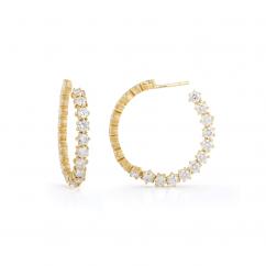 Jade Trau Catherine 18k Gold and Diamond Hoops